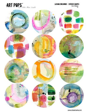 ART POPS™ Sticker Shapes - Laguna Dreaming Collection