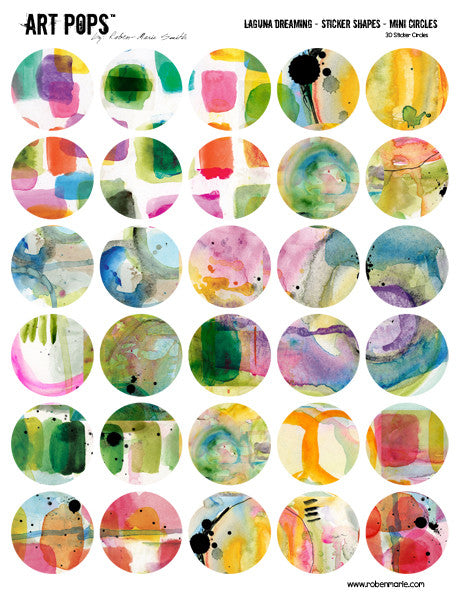 ART POPS™ Sticker Shapes Mini Circles - Laguna Dreaming Collection