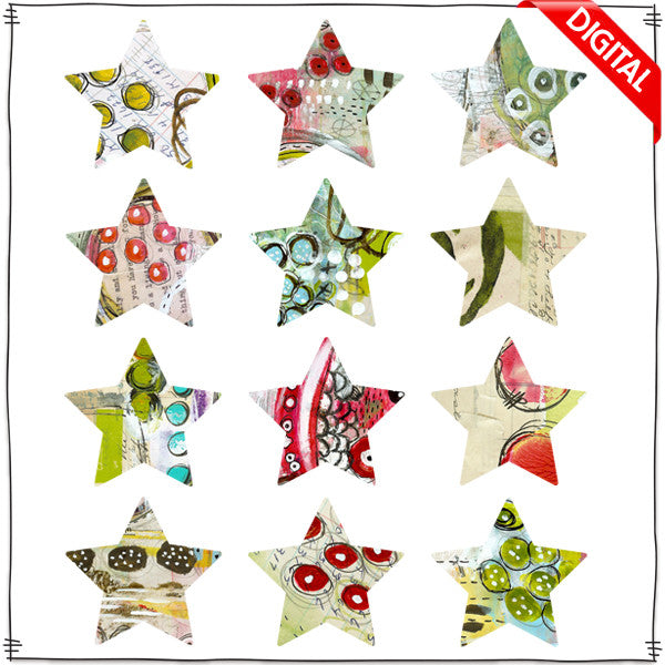 ART POPS™ Stars - Huckleberry Holiday™ Collection - Digital Elements