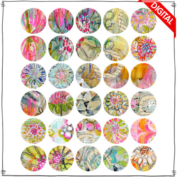 ART POPS™ Mini Circles - In the Garden Collection - Digital Elements