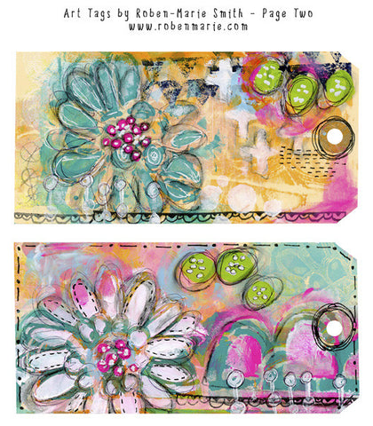In the Garden Art Tags by Roben-Marie - Digital Elements