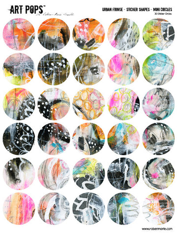 ART POPS™ Sticker Shapes Mini Circles - Urban Fringe Collection