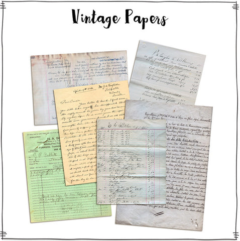 Vintage Papers by Roben-Marie - Digital Elements