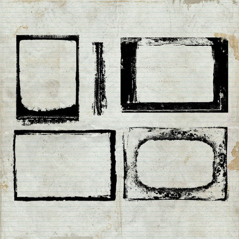 Grunge Frames Unmounted Rubber Stamp Sheet
