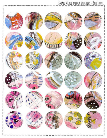 Small Mixed Media Stickers - #1