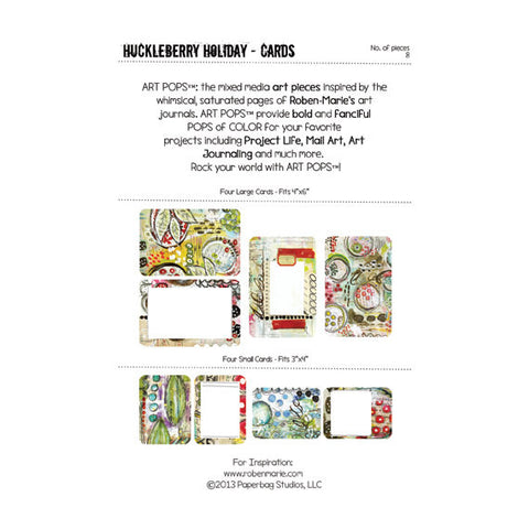 ART POPS™ Cards from the Huckleberry Holiday™ Collection