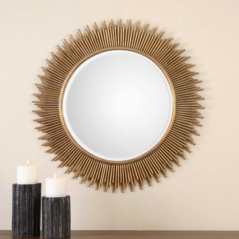 MARLO ROUND MIRROR - Al Rugaib Furniture (4591053897824)