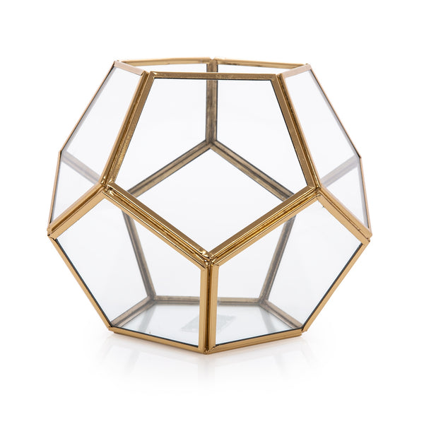 Brass & Glass Decorative Piece Gold - Al Rugaib Furniture (4727808229472)