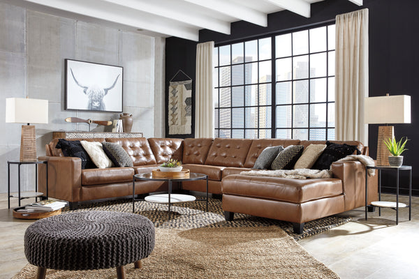 4-Piece Sectional with Chaise and Tufting (4802633367648)