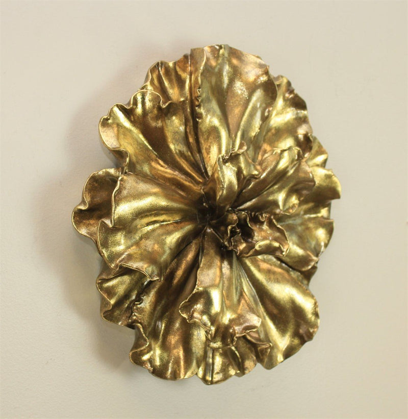 "Gold Wall Flower 20"" - Al Rugaib Furniture (773018091616)"