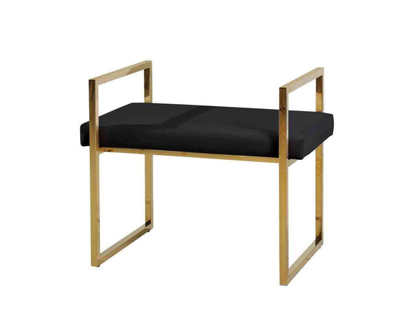 Vanity Bench, Gold/Black - Al Rugaib Furniture (9794062034)