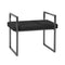 Black/Charcoal Velveteen Bench, Handles,