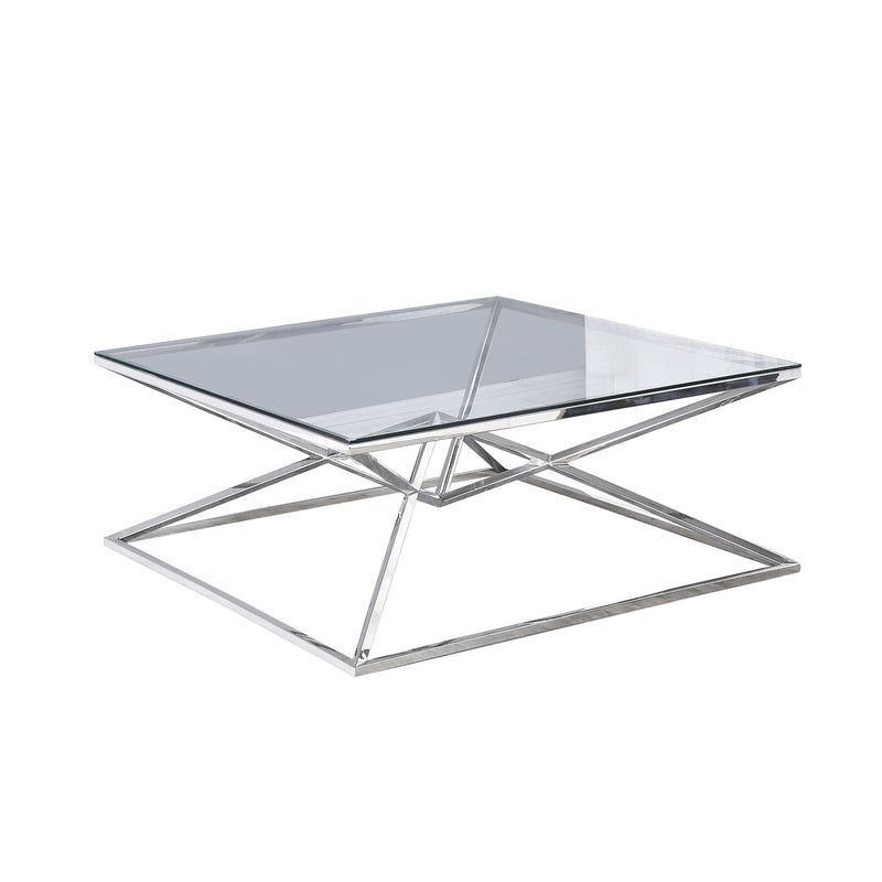 Glass top coffee table silver - Al Rugaib Furniture (1942164439136)