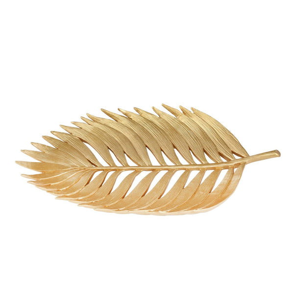 "POLYRESIN 14"" PALM LEAF DECORATION, GOLD (4448827244640)"