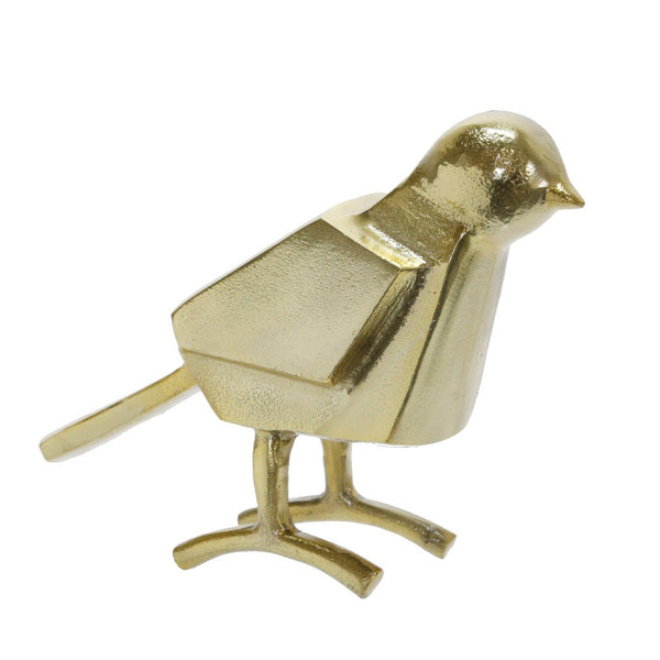 "METAL 7""H BIRD DECOR, GOLD - Al Rugaib Furniture (4602667925600)"