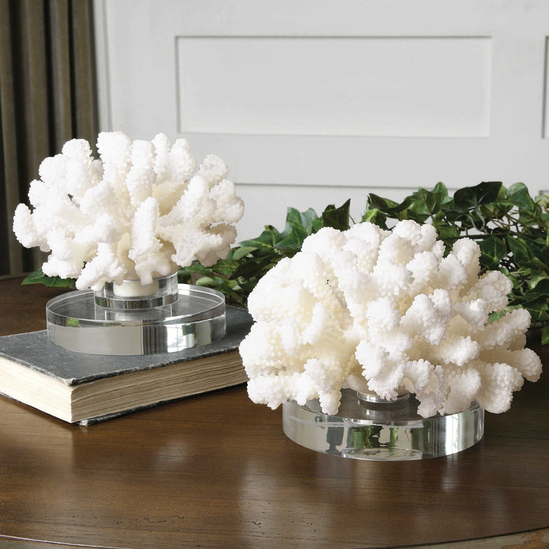 Hard Coral Sculpture, S/2 (4494640283744)