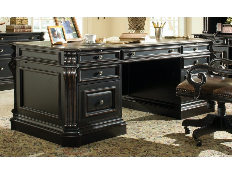 Home Office Telluride 76'' Executive Desk w/Wood Panels - Al Rugaib Furniture (4686493253728)