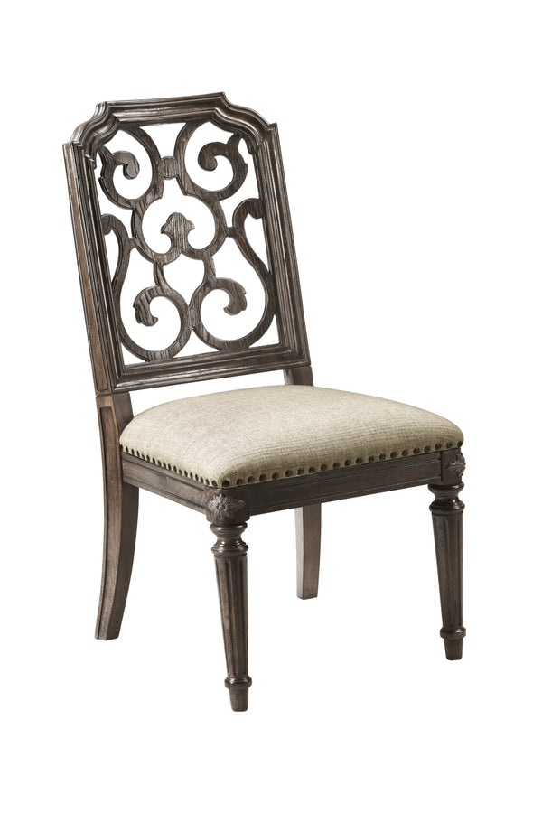 Vintage Salvage - Tristan Fret Back Side Chair  (4568168235104)