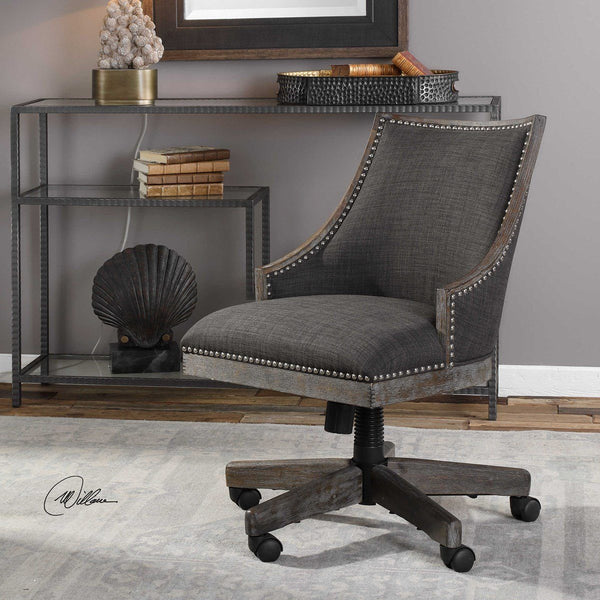 AIDRIAN DESK CHAIR - Al Rugaib Furniture (4491540168800)