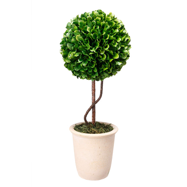 Faux Boxwood Topiary - Single Sphere - Al Rugaib Furniture (2028715081824)