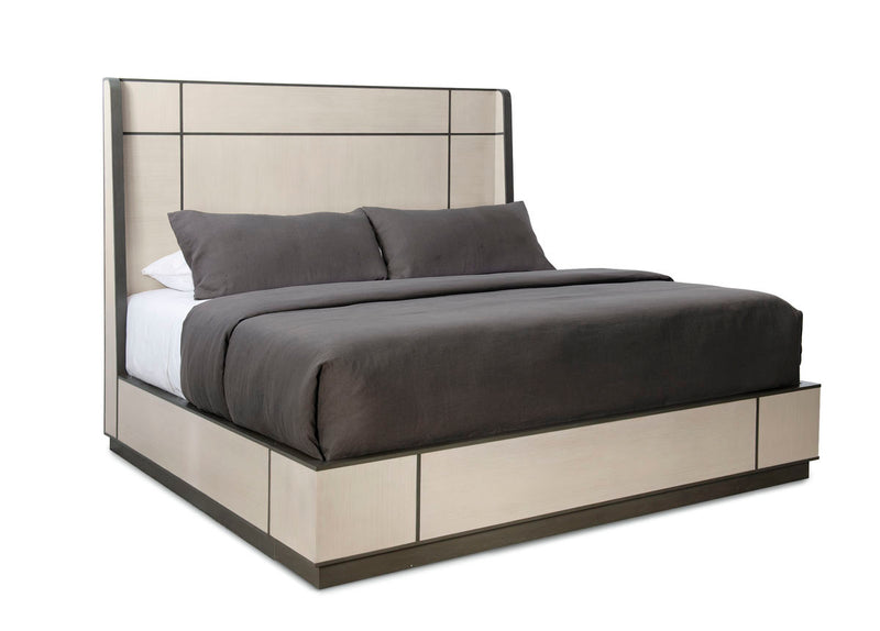 MODERN REPETITION - WOOD BED - QUEEN - Al Rugaib Furniture (4730733494368)
