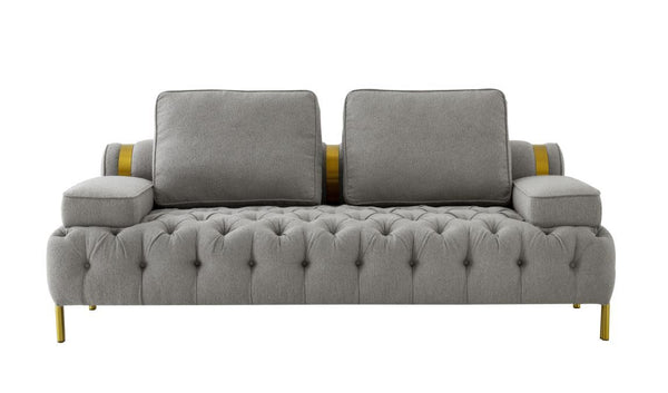 Golden Brushed Loveseat (4602178437216)