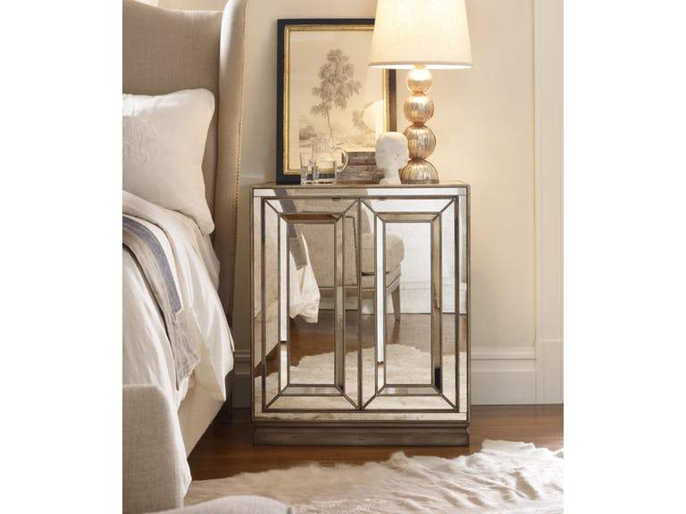 Two-Door Mirrored Nightstand - Visage - Al Rugaib Furniture (2097320034400)