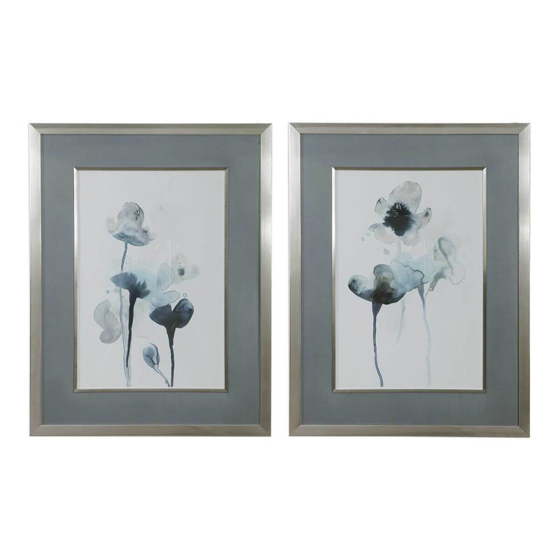 MIDNIGHT BLOSSOMS FRAMED PRINTS, S/2 (4483204186208)