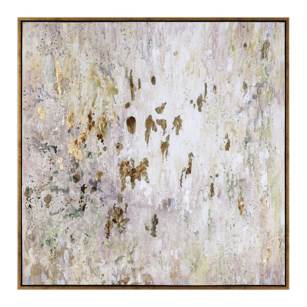 GOLDEN RAINDROPS HAND PAINTED CANVAS - Al Rugaib Furniture (4483216998496)