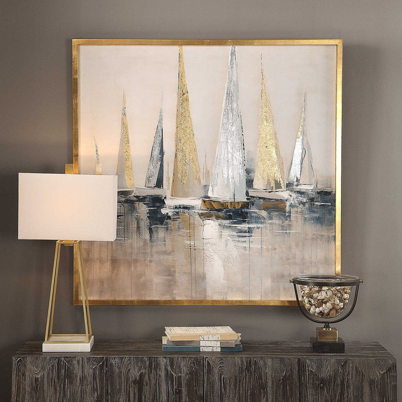 Regatta Hand Painted Canvas - Al Rugaib Furniture (4494631600224)