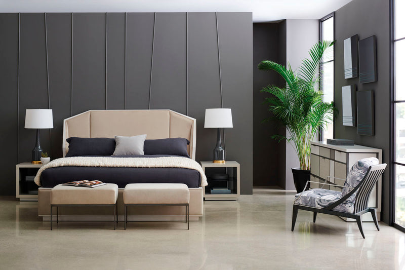 MODERN EXPRESSIONS - UPH BED - KING - Al Rugaib Furniture (4730736181344)