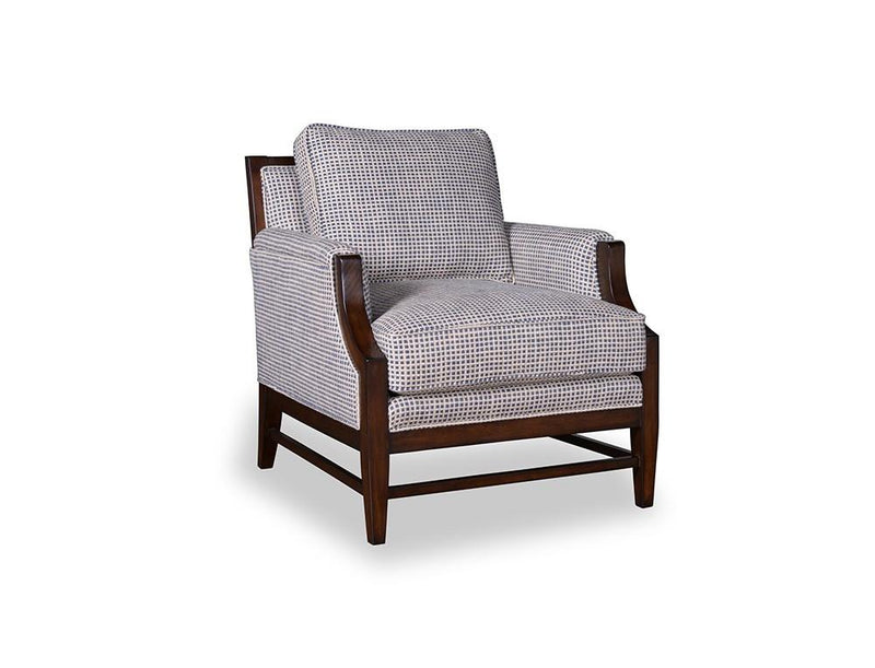Bristol Accent Chair With Tapered Wood Legs - Al Rugaib Furniture (9211335634)
