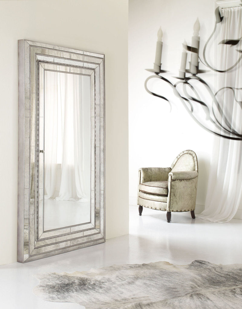 Glamour Floor Mirror w/Jewelry Armoire Storage - Al Rugaib Furniture (9258410130)