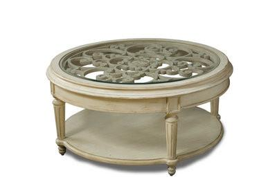 Provenance- Round Cocktail Table- Linen - Al Rugaib Furniture (8644089874)