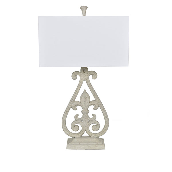 Fleur De Lis Table Lamp - Al Rugaib Furniture (4494511931488)