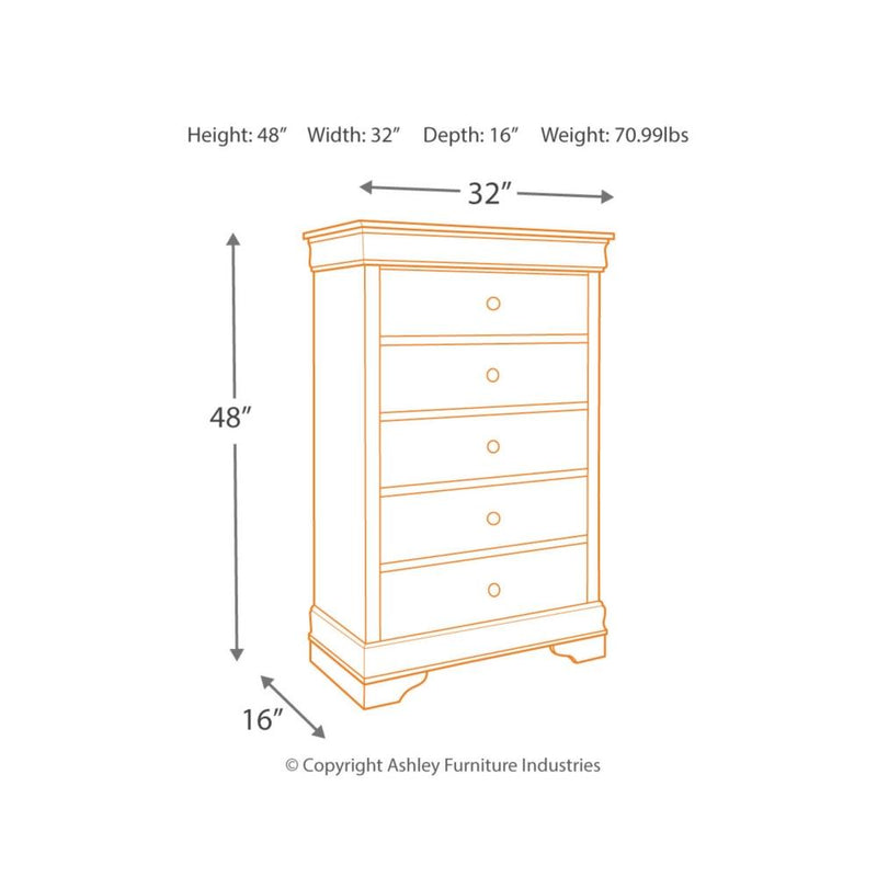 Jorstad Five Drawer Chest - Al Rugaib Furniture (2176773619808)