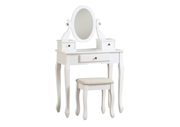 Kaslyn Vanity and Mirror with Stool (6535365197920)