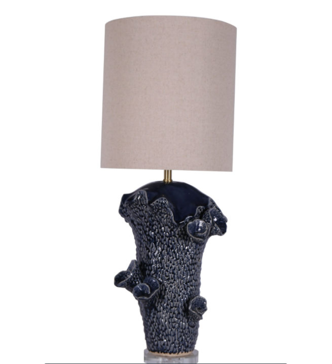 "CERAMIC 36"" ABSTRACT TABLE LAMP, BLUE (6544324165728)"