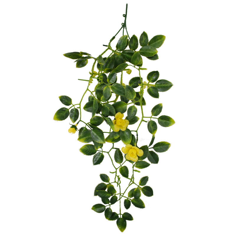 Hanging Rose Leaf with Yellow Flower (6536658550880)
