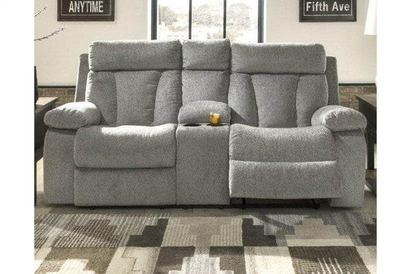 Mitchiner Double Recliner Loveseat With Console - Al Rugaib Furniture (2026029121632)