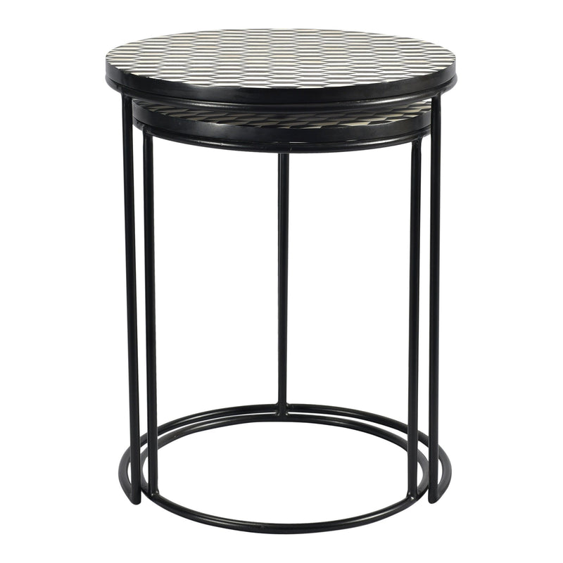 Optic Nesting Tables Set Of 2 - Al Rugaib Furniture (4583271628896)