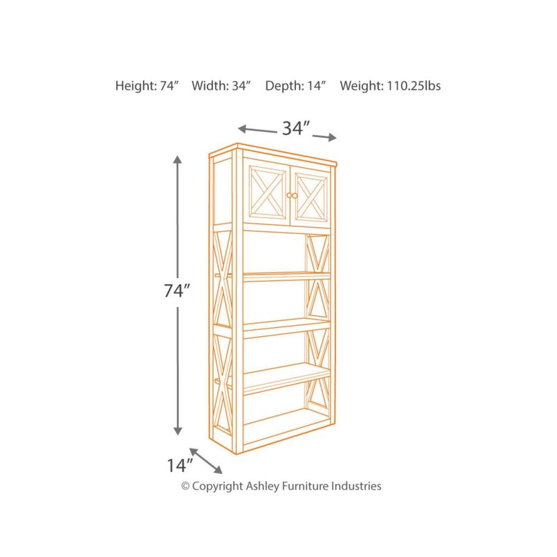 Tyler Creek Large Bookcase - Al Rugaib Furniture (2184412954720)