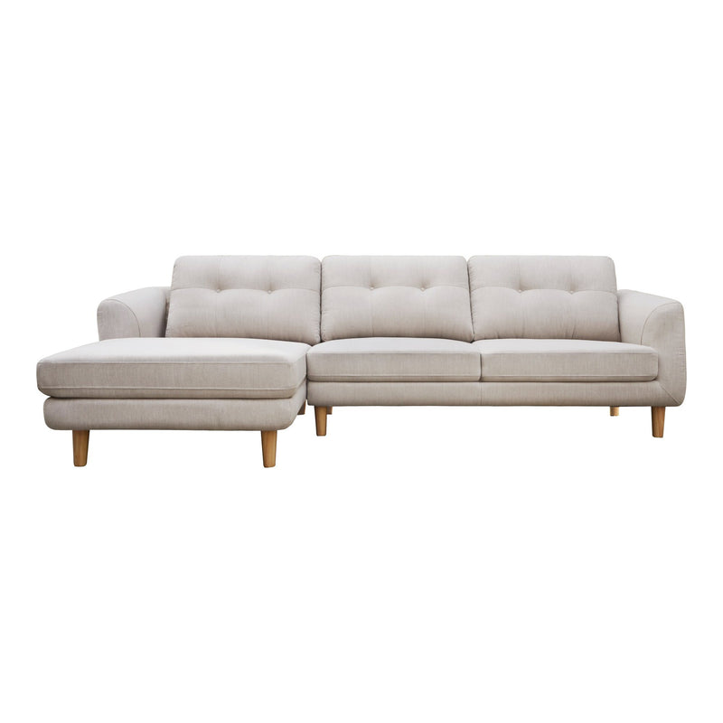Corey Sectional Light Grey Left - Al Rugaib Furniture (4583198752864)