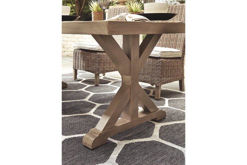 Beachcroft Dining Table with Umbrella Option - Al Rugaib Furniture (2207180062816)