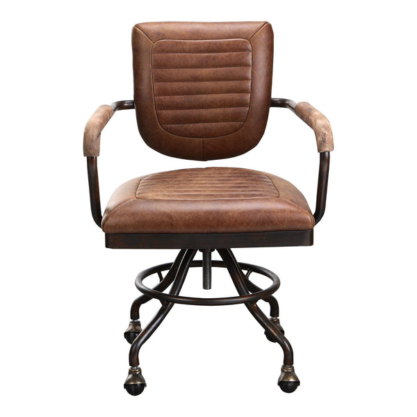 Foster Swivel Desk Chair - Soft Brown - Al Rugaib Furniture (4583154450528)