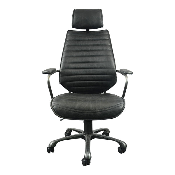 Executive Swivel Office Chair Black - Al Rugaib Furniture (4583170572384)