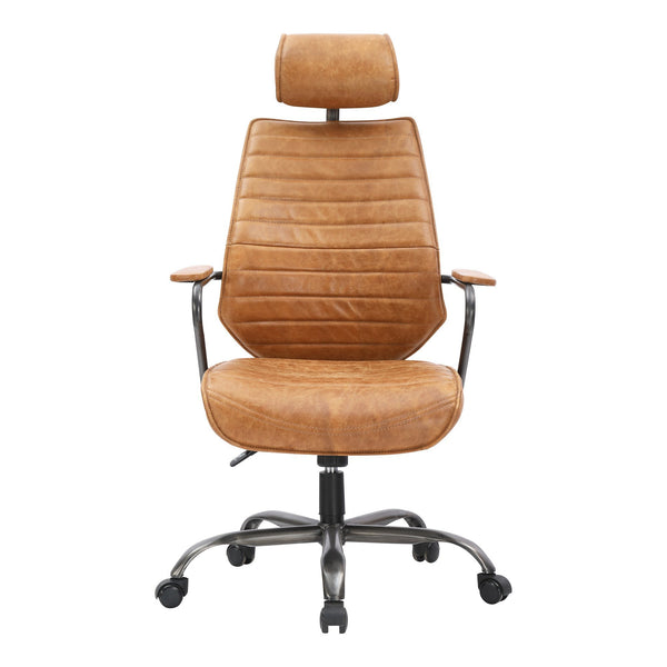 EXECUTIVE SWIVEL OFFICE CHAIR COGNAC (4583253999712)