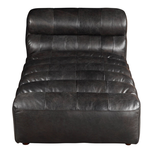 Ramsay Leather Chaise - Al Rugaib Furniture (4583207370848)