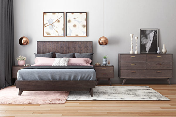 LOFT WOODEN KING BED - Al Rugaib Furniture (4676284514400)