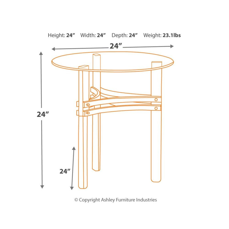 Braddoni Round End Table (4495104933984)